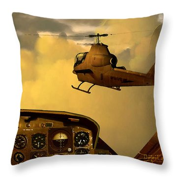 Palette Of The Aviator Throw Pillow