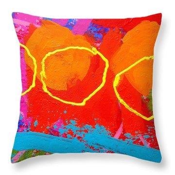 Palimpsest 004 Throw Pillow by John  Nolan