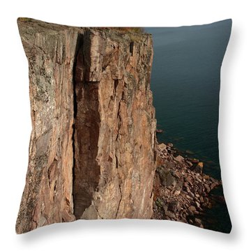 Throw Pillow featuring the photograph Palisade Depths by James Peterson