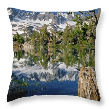 2m6443-v-palisade Peaks And Summit Lake V Throw Pillow