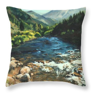 Palisades Creek  Throw Pillow