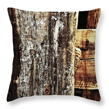 Pallet Throw Pillow by Jason Michael Roust