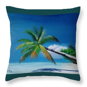 Palm And Shadow Throw Pillow