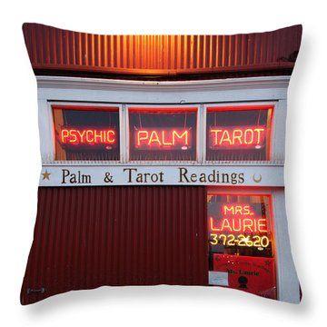 Palm And Tarot Readings On Monterey Cannery Row California 5d25166 Throw Pillow