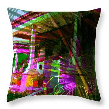 Palm Avenue Throw Pillow
