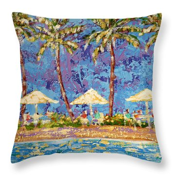 Palm Beach Life Throw Pillow