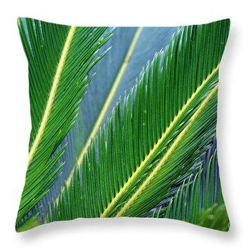 Palm Cycas Fronds Throw Pillow