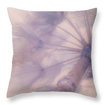Palm Haze Throw Pillow
