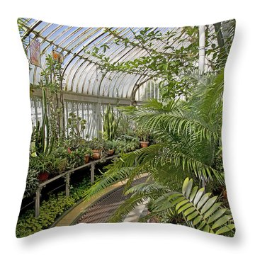 Palm House Belfast Ireland Throw Pillow