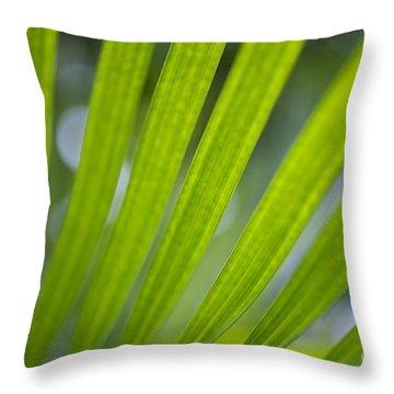 Palm Leaf Detail Throw Pillow