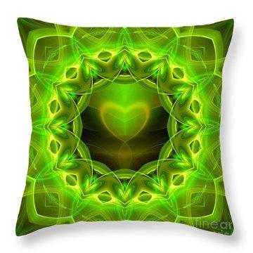 Palm Love Gift Throw Pillow by Hanza Turgul