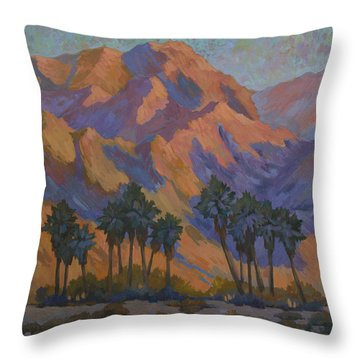 Palm Oasis At La Quinta Cove Throw Pillow