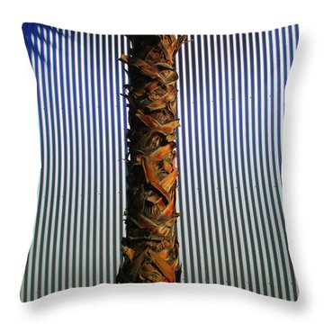 Palm On Sheet Metal Throw Pillow