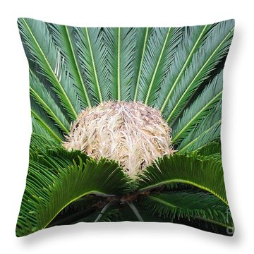 Palm Plant Throw Pillow