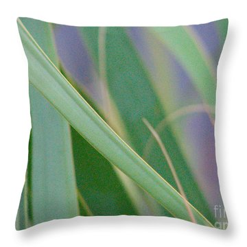 Palm Reeds Throw Pillow