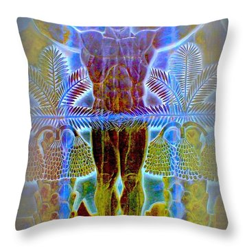 Palm Springs Mural Three Throw Pillow by Randall Weidner