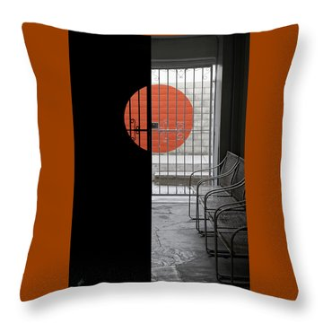 Palm Springs Shadows Throw Pillow by Ben and Raisa Gertsberg