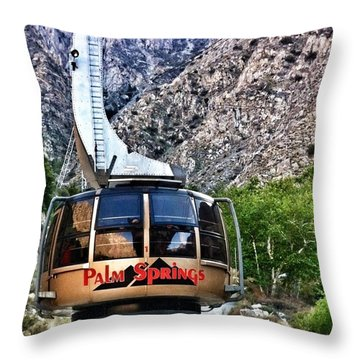 Palm Springs Tram 2 Throw Pillow