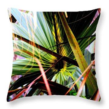 Palm Through The Fronds Throw Pillow