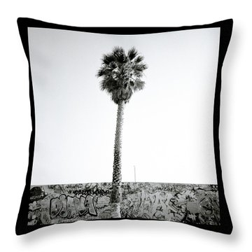 Palm Tree And Graffiti Throw Pillow