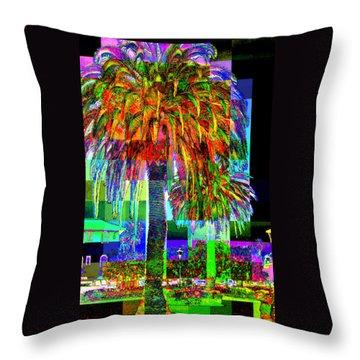 Throw Pillow featuring the photograph Palm Tree by Jodie Marie Anne Richardson Traugott          aka jm-ART