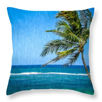 Palm Tree Swaying Throw Pillow