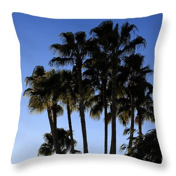 Throw Pillow featuring the photograph Palm Trees by Chris Thomas