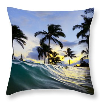 Palm Wave Throw Pillow