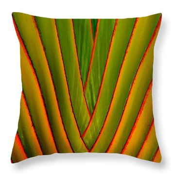 Palm Weave Fine Throw Pillow