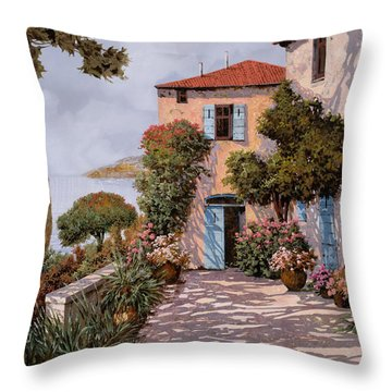 Palmette Viola Throw Pillow by Guido Borelli