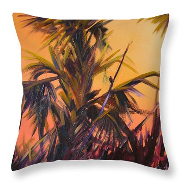 Palmettos At Dusk Throw Pillow