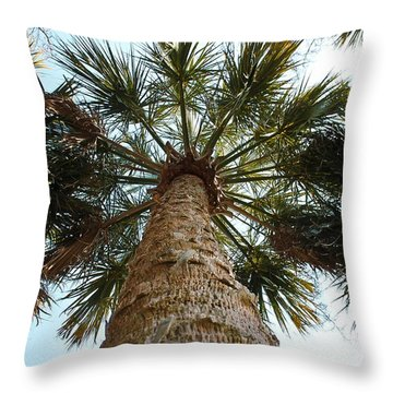 Palms Above Throw Pillow