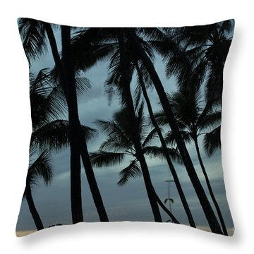 Throw Pillow featuring the photograph Palms At Dusk by Suzanne Luft