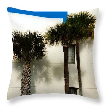 Palms Throw Pillow by Bruce Lennon