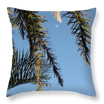 Palms In The Wind Throw Pillow by AR Annahita