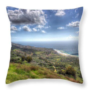 Palos Verdes Peninsula Hdr Throw Pillow by Heidi Smith