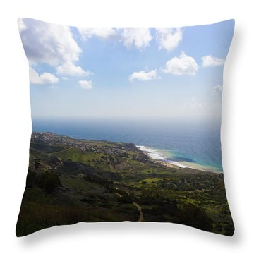 Palos Verdes Peninsula Throw Pillow by Heidi Smith