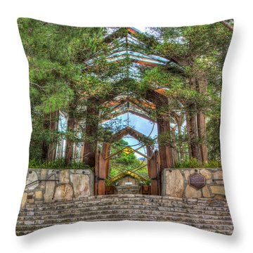 Palos Verdes Stone And Glass Throw Pillow by Heidi Smith