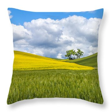 Palouse Highlights Throw Pillow by Patricia Davidson