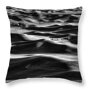 Palouse In Black And White Throw Pillow