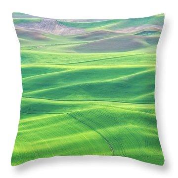 Palouse In Spring Throw Pillow