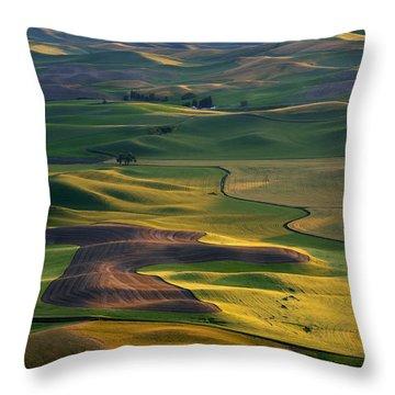 Palouse Shadows Throw Pillow