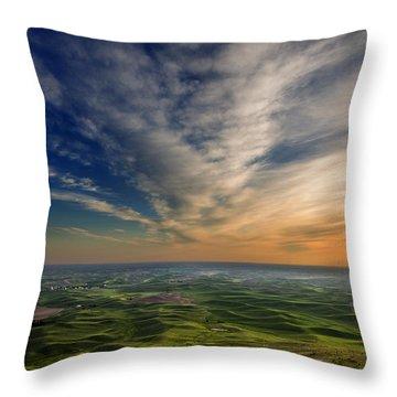 Palouse Sunset Throw Pillow