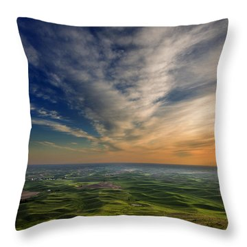Palouse Sunset Throw Pillow by Mary Jo Allen