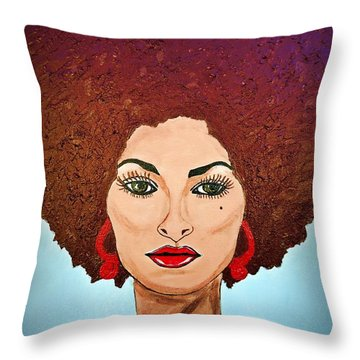 Pam Grier C1970 The Original Diva Throw Pillow