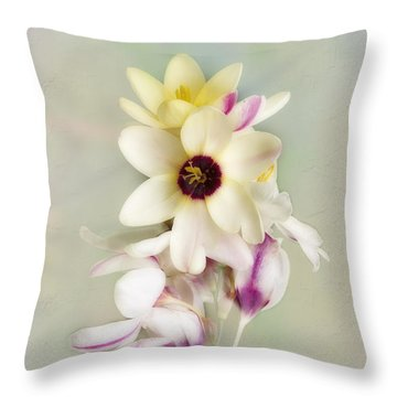 Pamela Throw Pillow by Elaine Teague