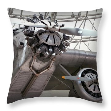Pan Am Airplane Throw Pillow by Karyn Robinson