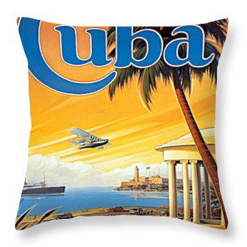 Pan Am Cuba  Throw Pillow