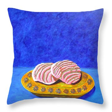 Pan Dulce Azul Throw Pillow by Manny Chapa