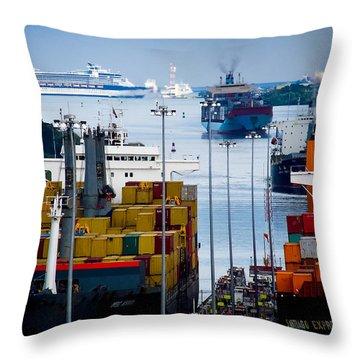 Panama Canal Express Throw Pillow